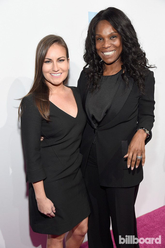 Monica Escobedo and Yvette Noel-Scure attend the Billboard Women in Music 2016 event on Dec. 9, 2016 in New York City.