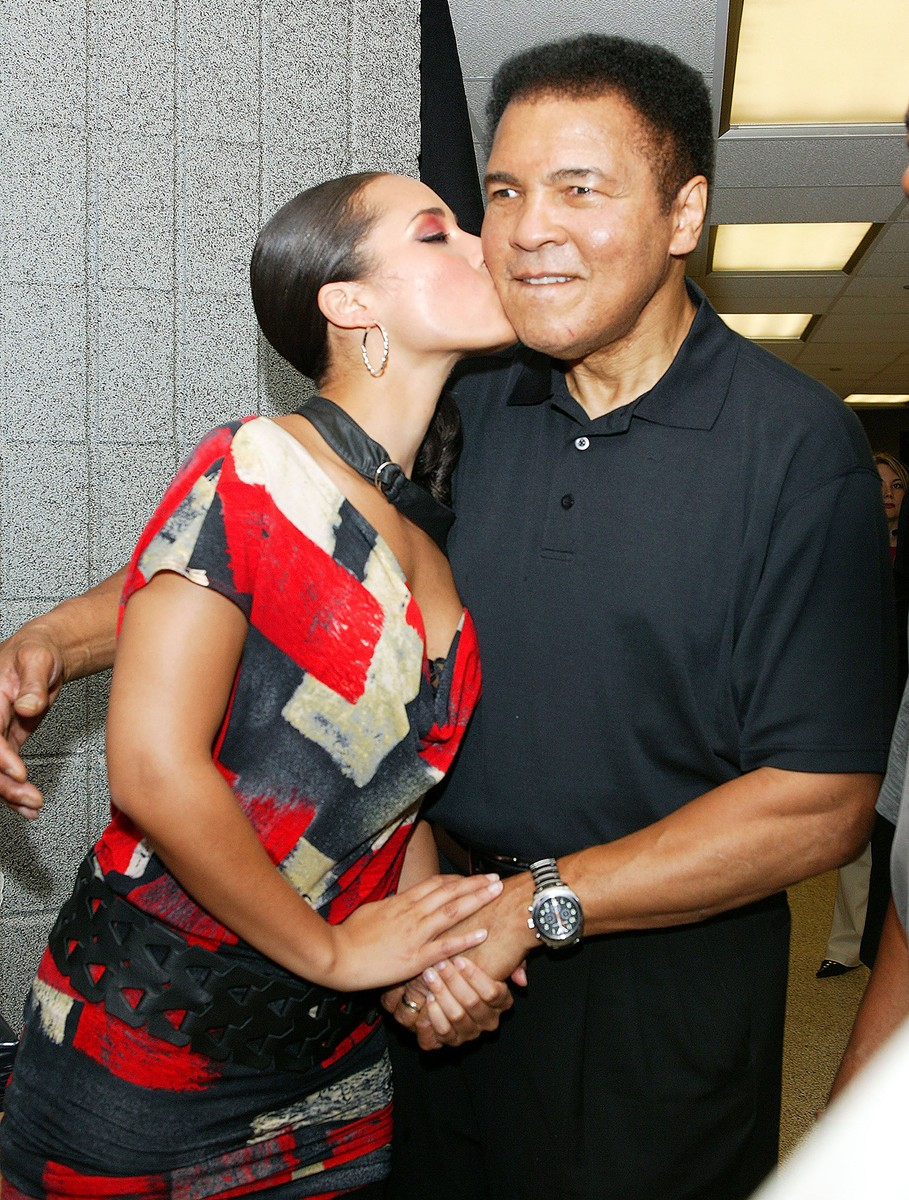 Alicia Keys and Muhammad Ali