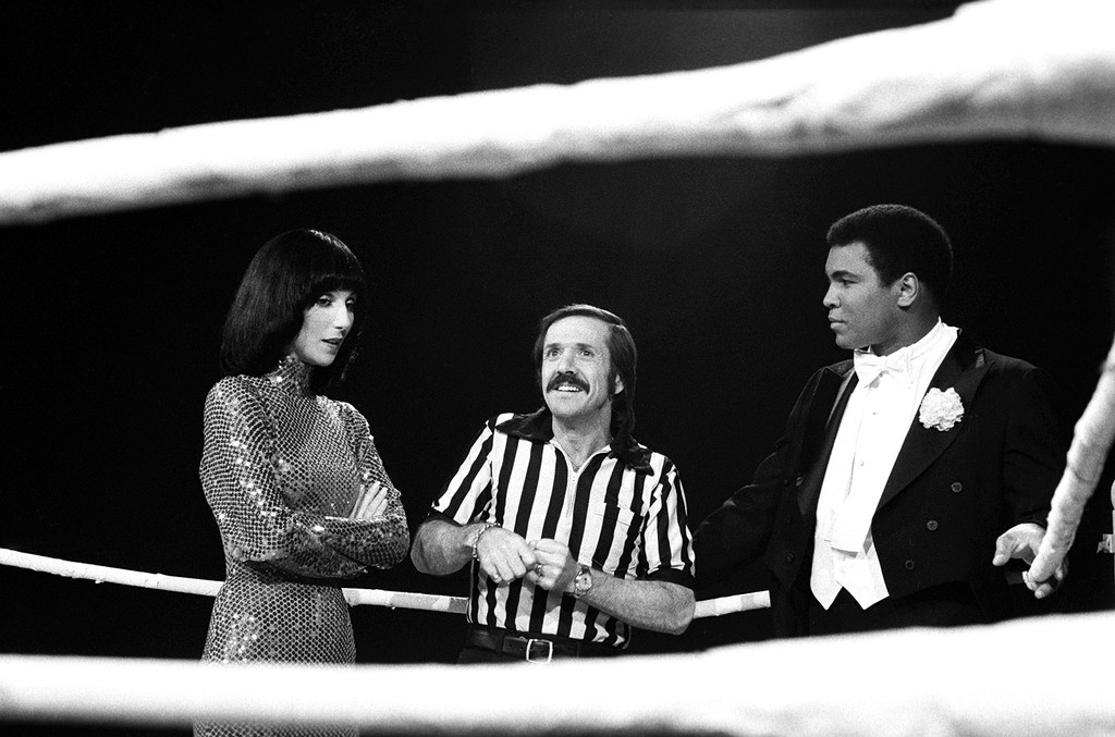 Cher and Muhammad Ali