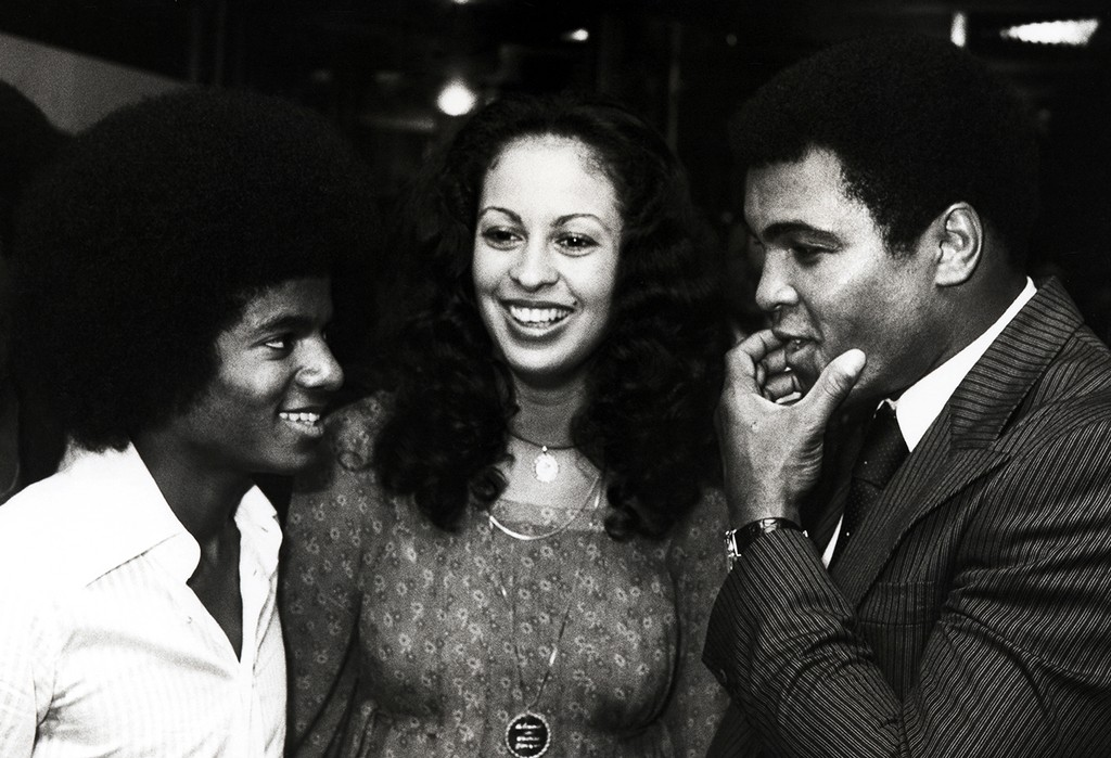 Michael Jackson, Veronica Ali, and Muhammad Ali photographed on Aug. 27, 1976.