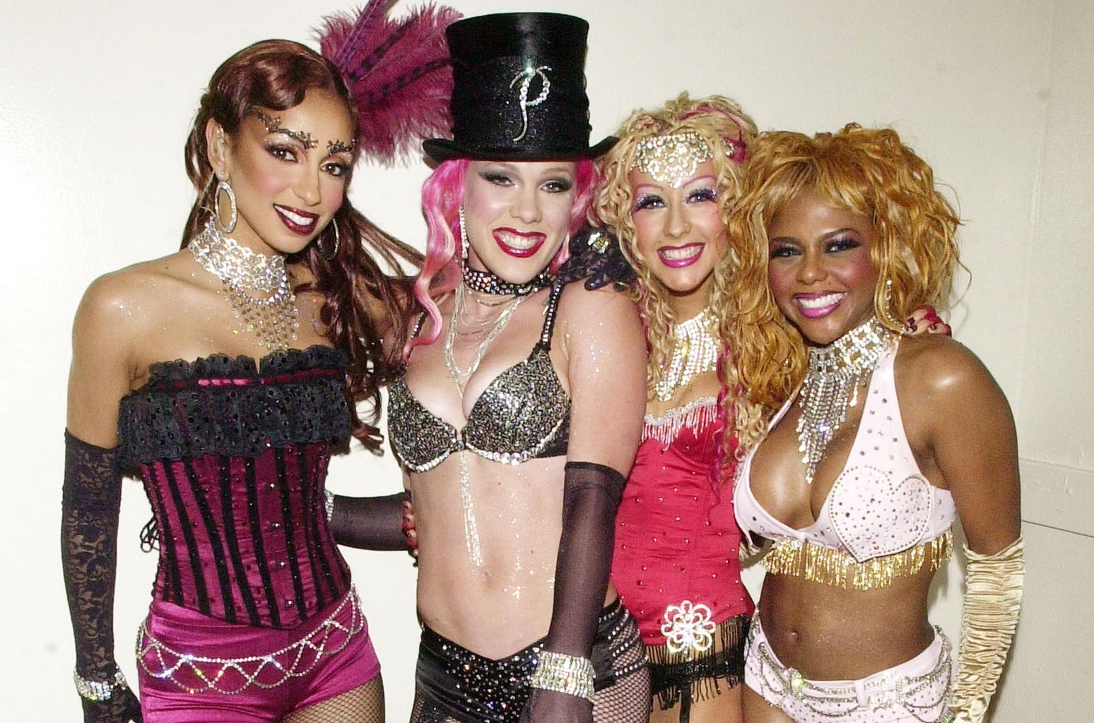 Mya, Pink, Christina Aguilera and Lil' Kim in 2001.