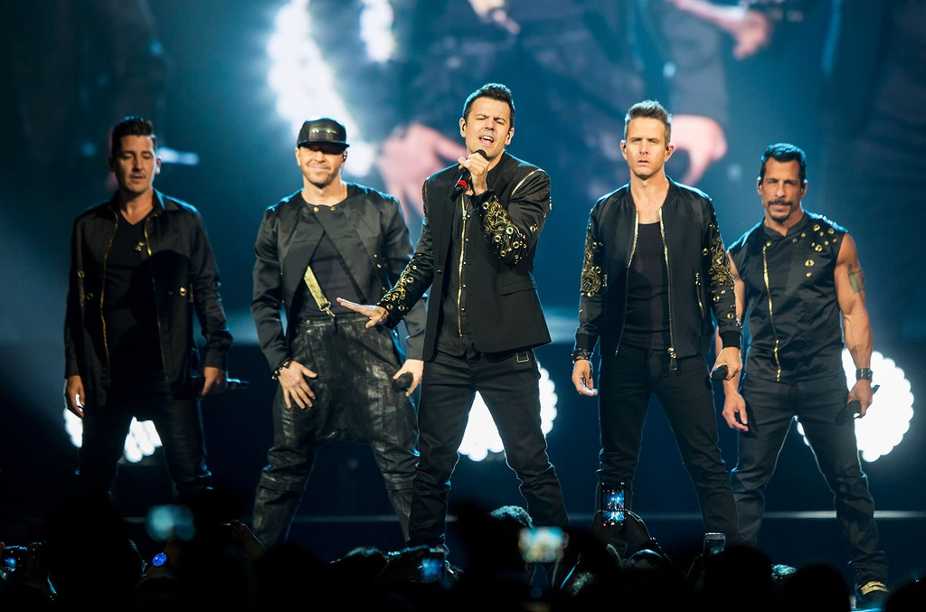 New Kids on the Block perform during The Total Package Tour