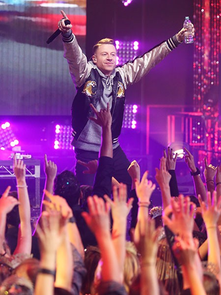 Macklemore performs at Dick Clark's New Year's Rockin' Eve