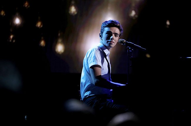 Nathan Sykes performs at Dick Clark's New Year's Rockin' Eve