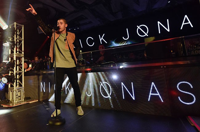 Nick Jonas performs at Foxtail Nightclub at SLS Las Vegas