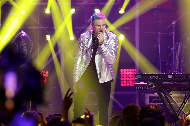 Nicholas Petricca of  Walk The Moon performs onstage at Dick Clark's New Year's Rockin' Eve
