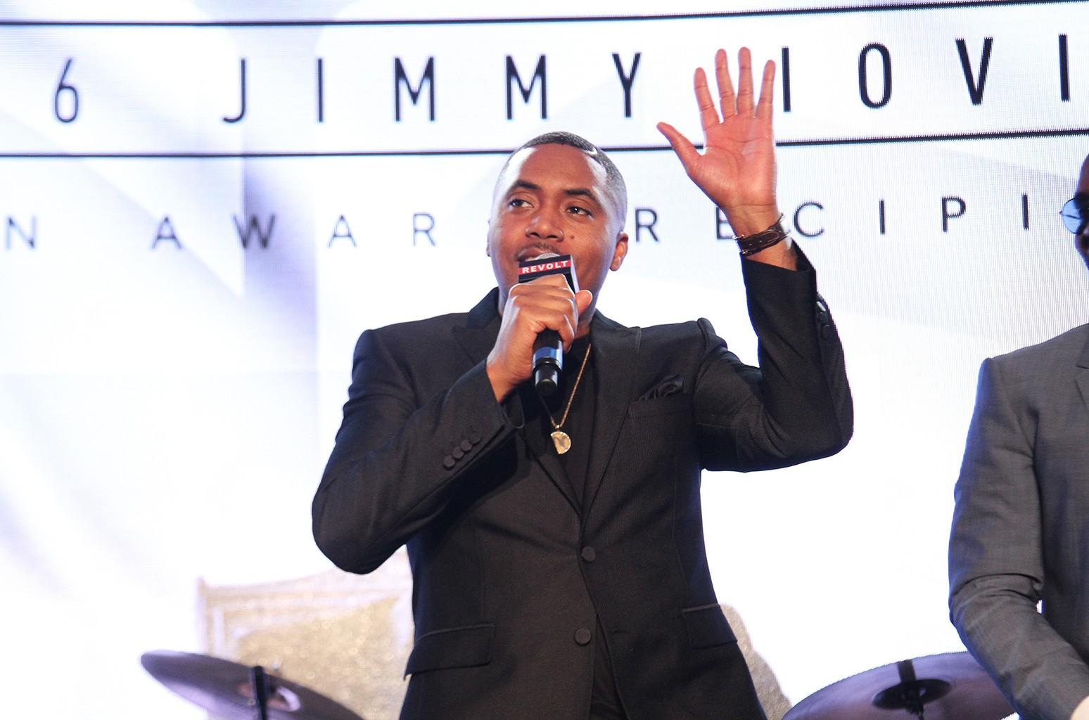 Nas accepts the Jimmy Iovine Award