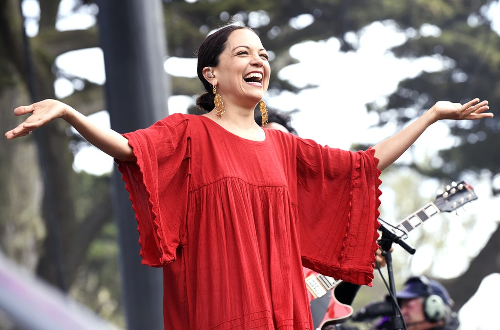 Natalia LaFourcade performs during the Outside Lands Music And Arts Festival
