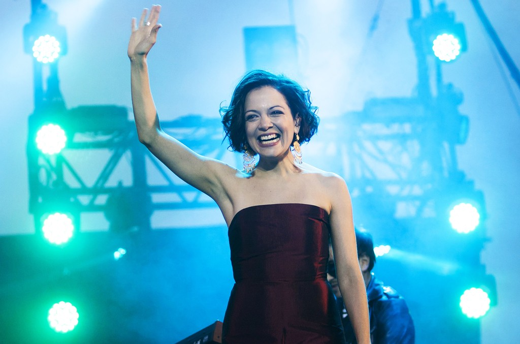 Natalia Lafourcade performs during Vive Latino Festival 2016 at Foro Sol on April 23, 2016 in Mexico City, Mexico.