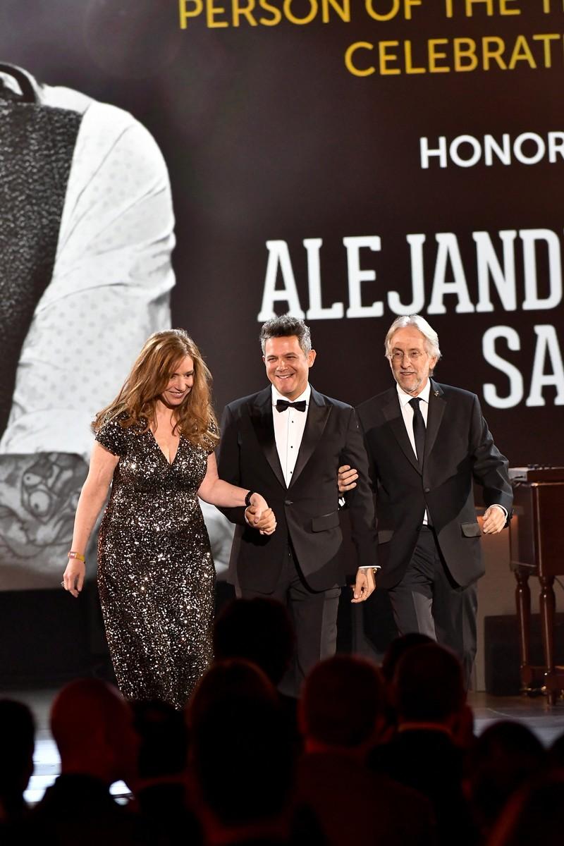 Laura Tesoriero, Alejandro Sanz & Neil Portnow, 2017