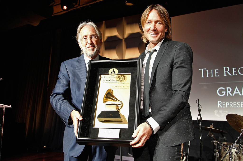 Neil Portnow and Keith Urban at The Recording Academy's 2017 Grammys on the Hill Awards to honor four-time Grammy winner Keith Urban with the Recording Artists' Coalition Award for his musical achievements and commitment to numerous music education progra