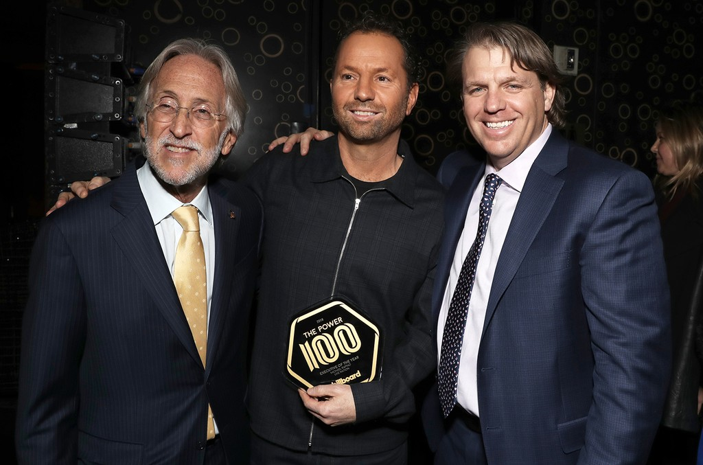 Neil Portnow, Michael Rapino and Todd Boehly