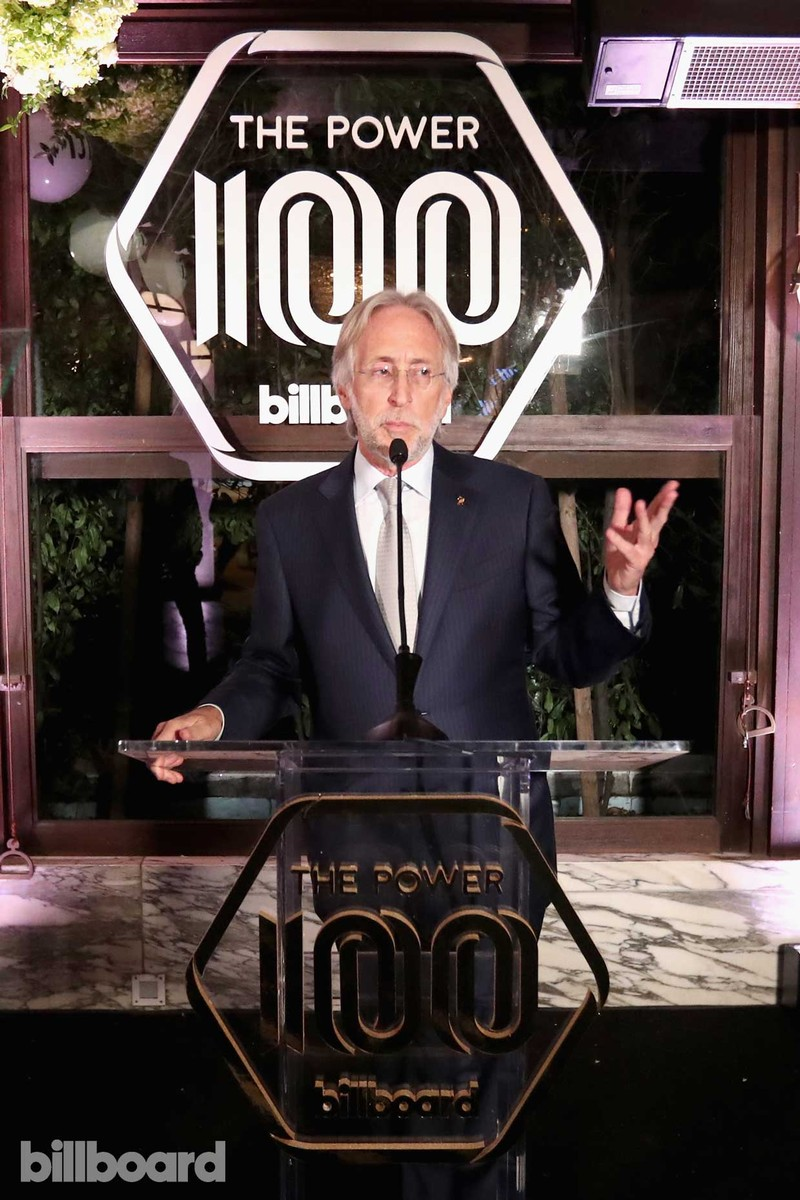 Neil Portnow speaks onstage during the 2017 Billboard Power 100 - Inside at Cecconi's on Feb. 9, 2017 in West Hollywood, Calif.