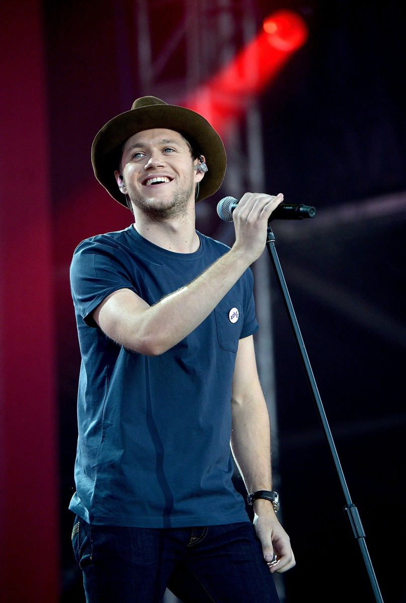 Niall Horan performs on stage during the One Love Manchester Benefit Concert at Old Trafford on June 4, 2017 in Manchester, England.