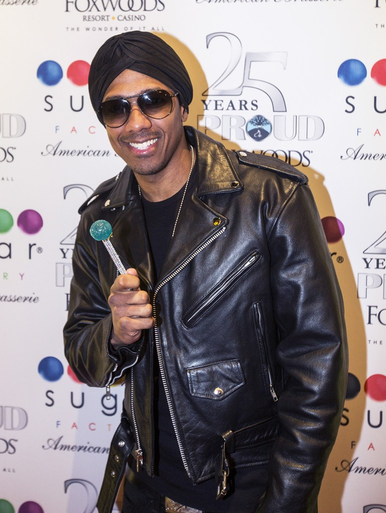 Nick Cannon with a Couture Pop on the Red Carpet at the Sugar Factory American Brassiere Grand Opening at Foxwoods Resort Casino on April 1, 2017 in Mashantucket, Conn.