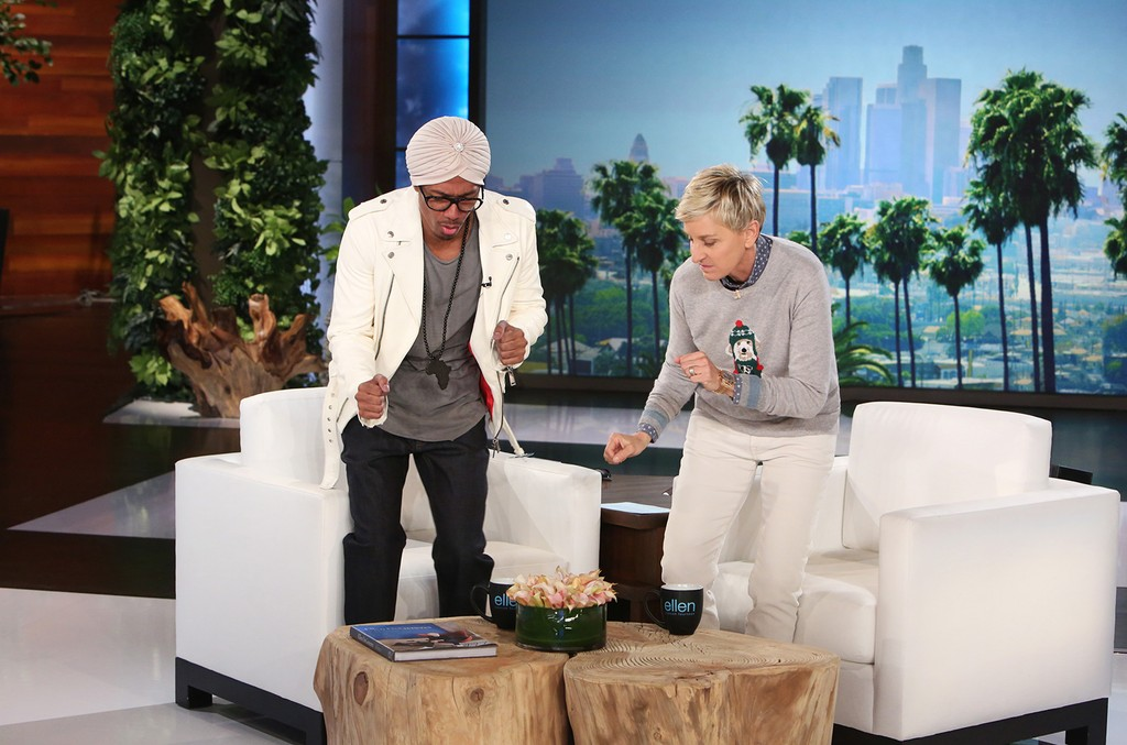 """Nick Cannon makes an appearance on """"The Ellen DeGeneres Show"""" on Jan. 16, 2017."""