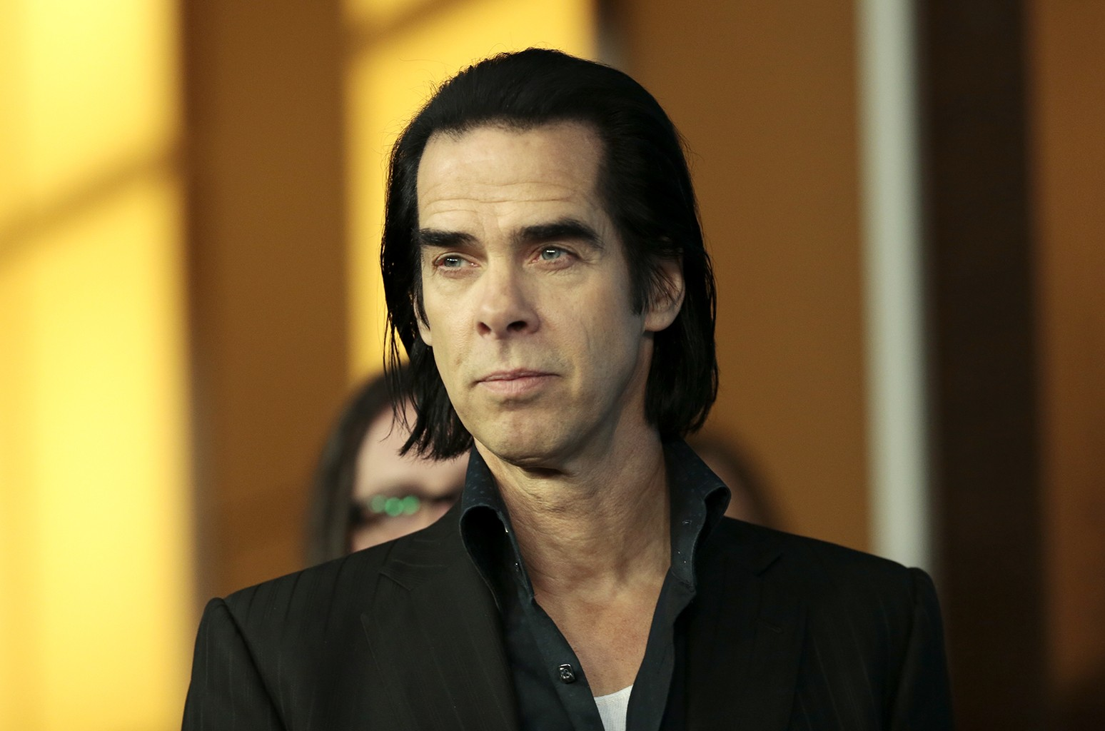 Nick Cave arrives at the photo call for the film In 20,000 Days on Earth during the Berlinale International Film Festival on Feb. 10, 2014 in Berlin.
