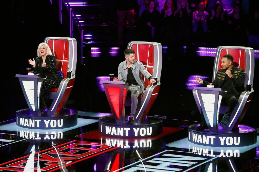 Kelly Clarkson, Nick Jonas and John Legend