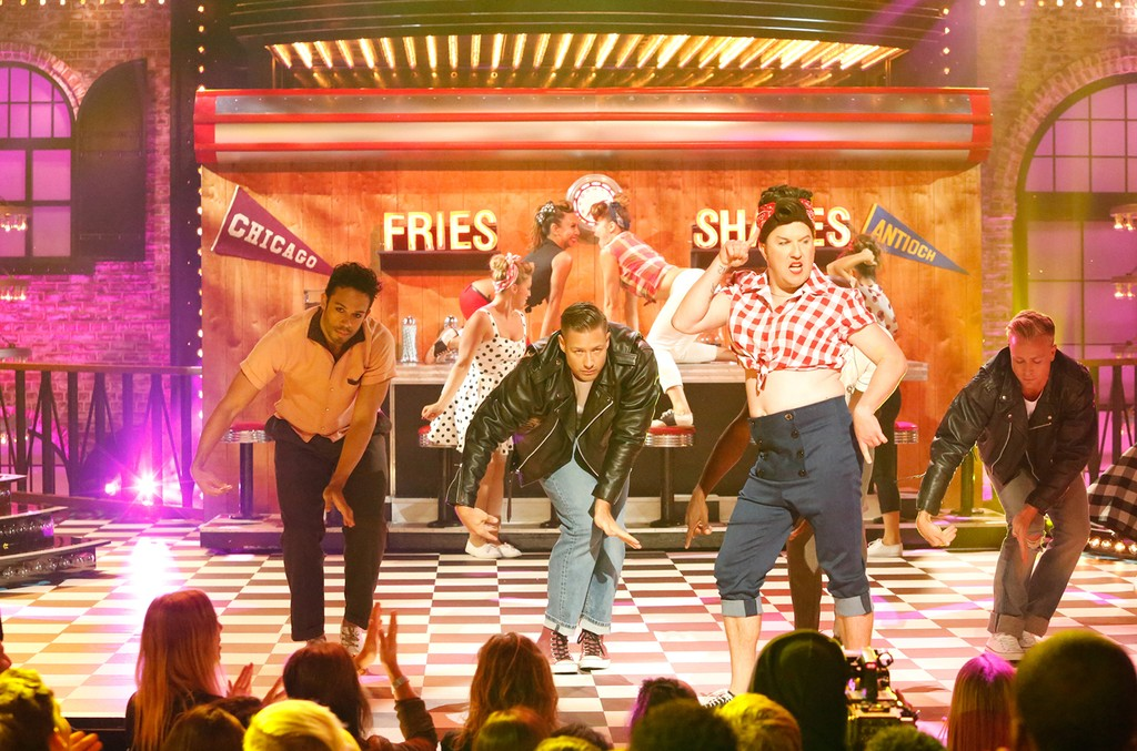 "Nick Swardson's performance of ""Ex's and Oh's"" on Spike's ""Lip Sync Battle."""