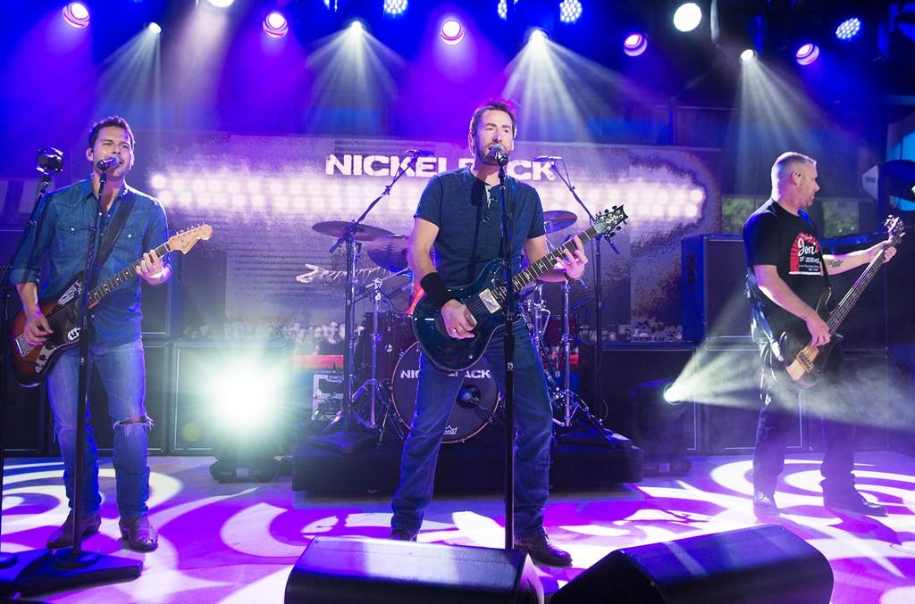 Ryan Peake, Chad Kroeger, Daniel Adair, Mike Kroeger of Nickelback on June 13, 2017.