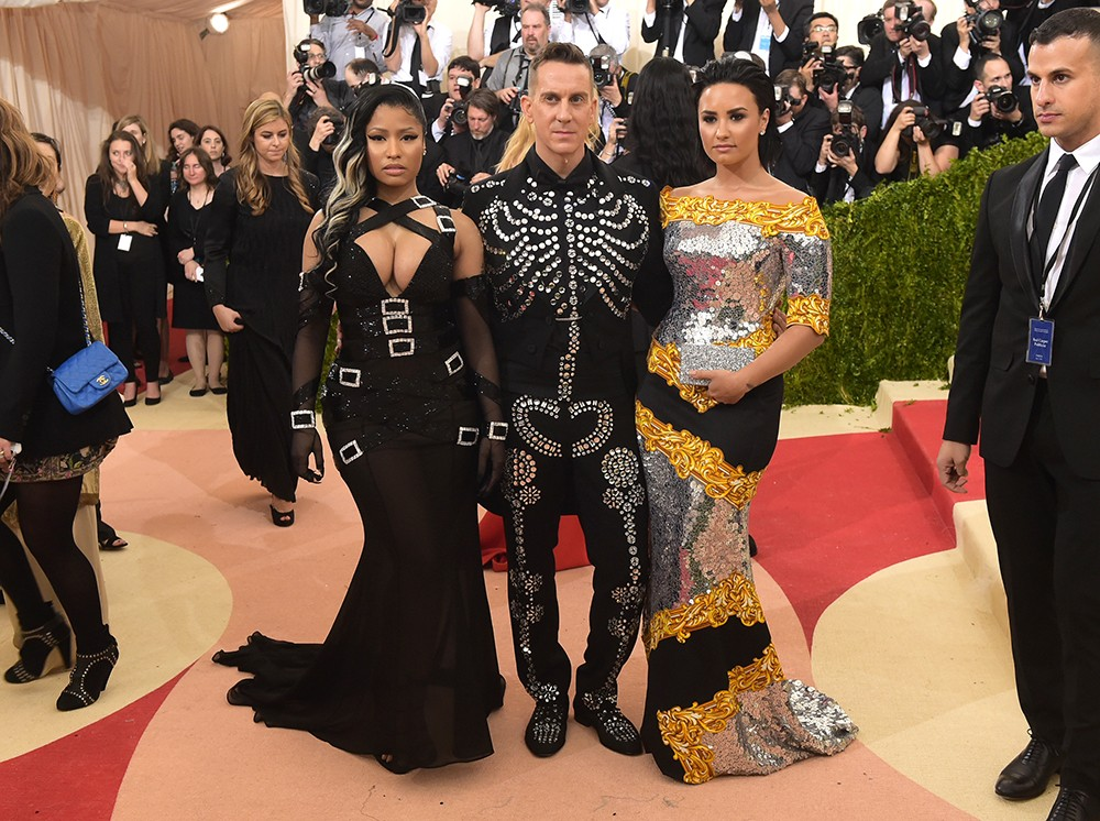 Nicki Minaj, Jeremy Scott and Demi Lovato 2016