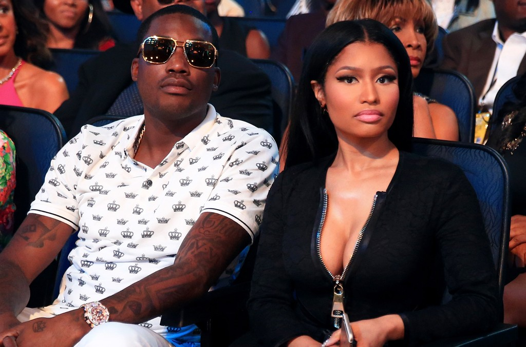 Meek Mill and Nicki Minaj at the 2015 BET Awards