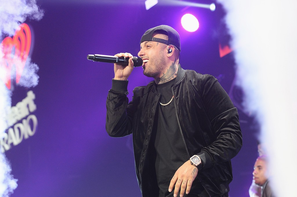 Nicky Jam performs at the Y100's Jingle Ball 2016 at BB&T Center on Dec. 18, 2016 in Sunrise, Fla.