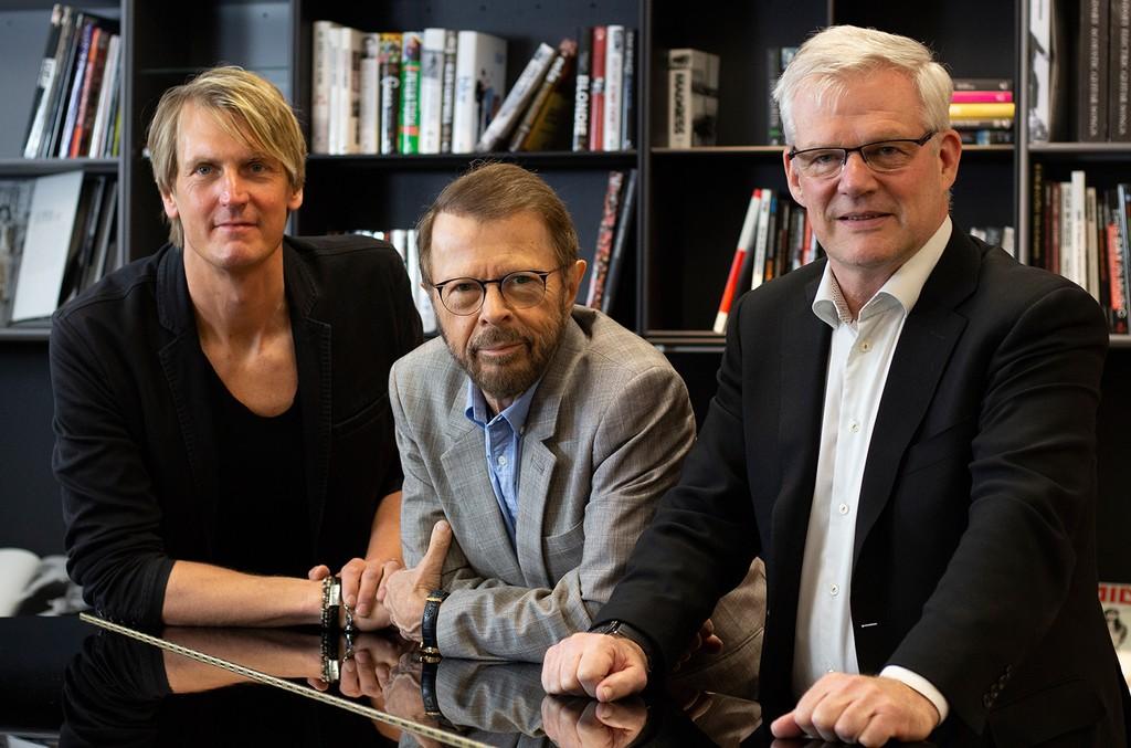 (L-R) Niclas Molinder, Björn Ulvaeus and Robert Ashcroft
