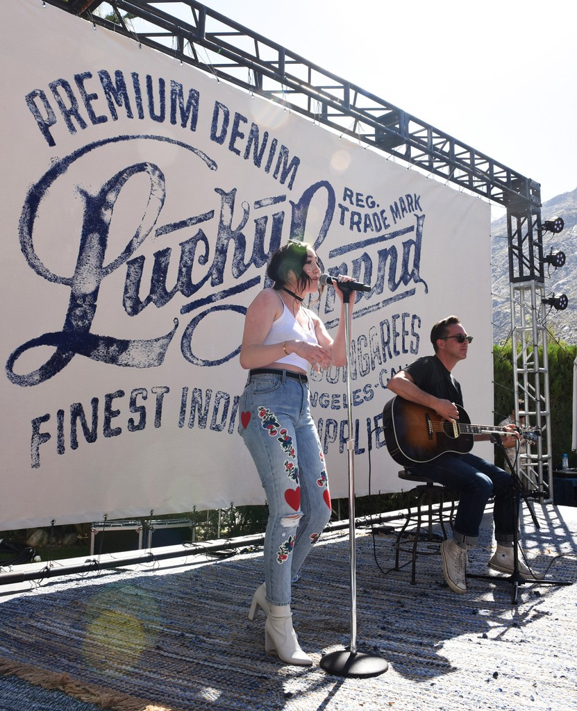 Noah Cyrus performs at Lucky Lounge Presents Desert Jam on April 15, 2017 in Palm Springs, Calif.