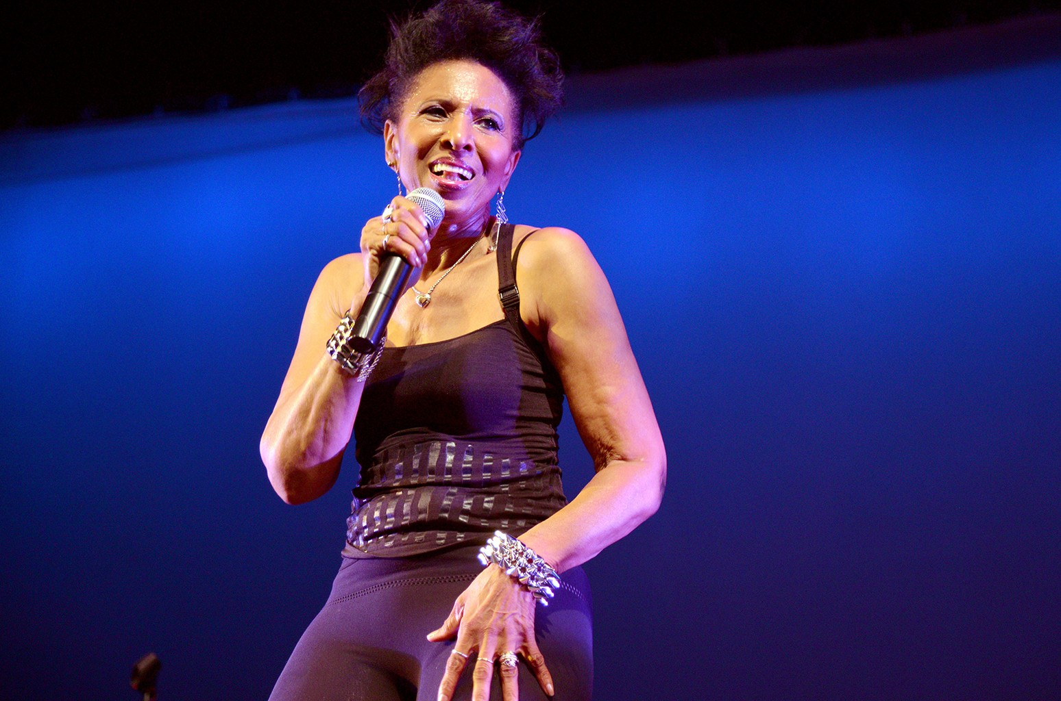 Nona Hendryx performs on stage during the Palm Springs Women's Jazz Festival on Oct. 10, 2015.
