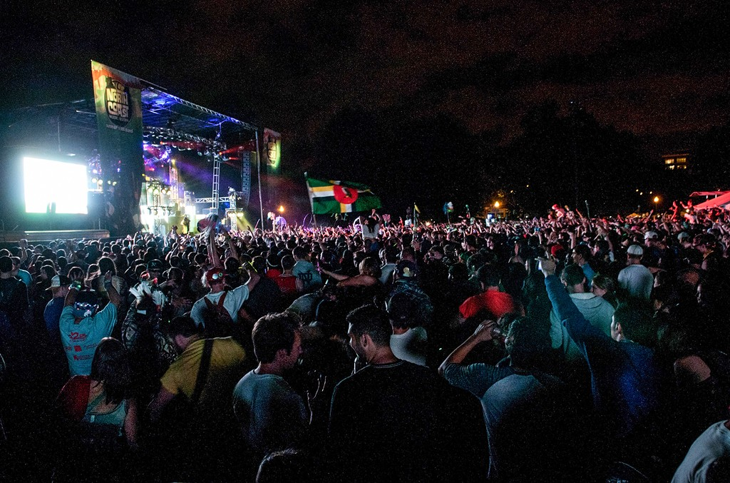 A general view of the crowd during North Coast Music Festival at Union Park in Chicago.