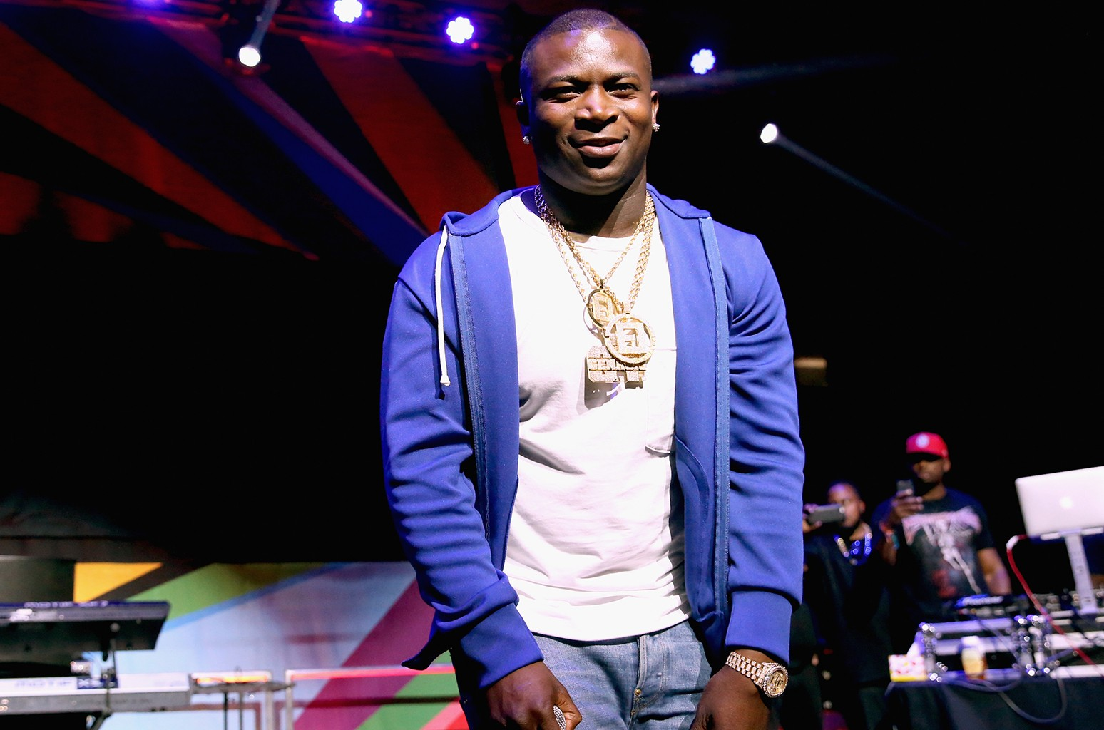 O.T. Genasis performs during the 2016 BET Experience