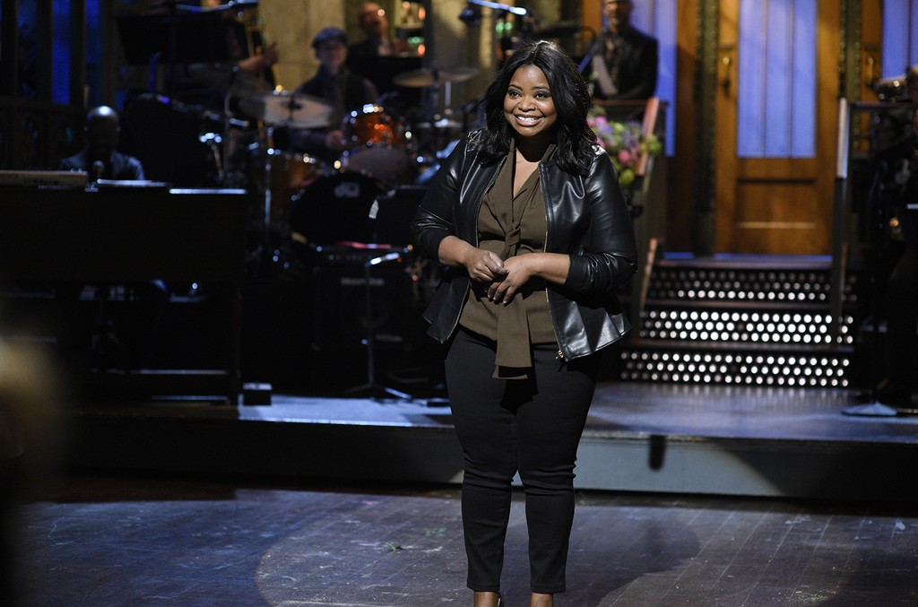 Octavia Spencer delivers the monologue on Saturday Night Live on March 4, 2017.