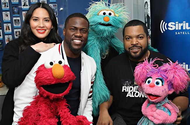 Olivia Munn, Elmo, Kevin Hart, Rosita, Ice Cube and Abby Cadabby