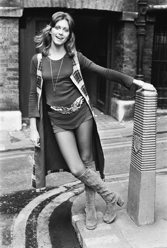 Olivia Newton-John in London on Oct. 11, 1971.