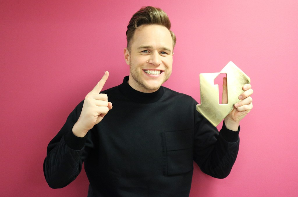 Olly Murs with his Official Number 1 Album Award for his album 24 HRS in London on Nov. 17, 2016.