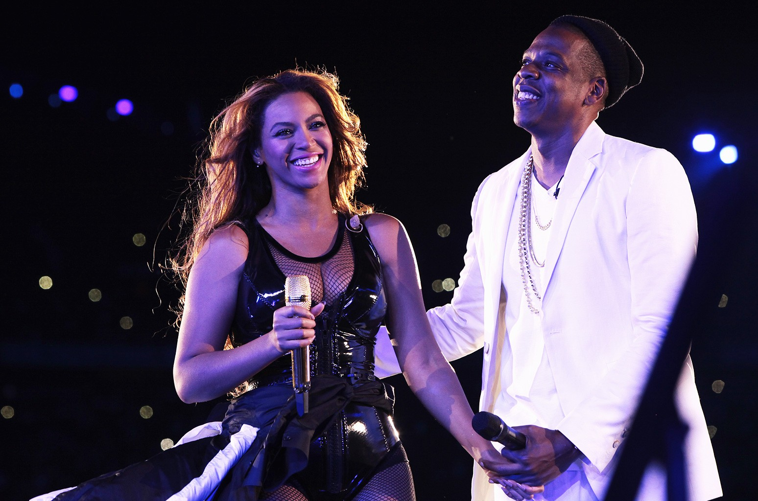 Beyonce and Jay-Z during On The Run Tour in Paris, 2014