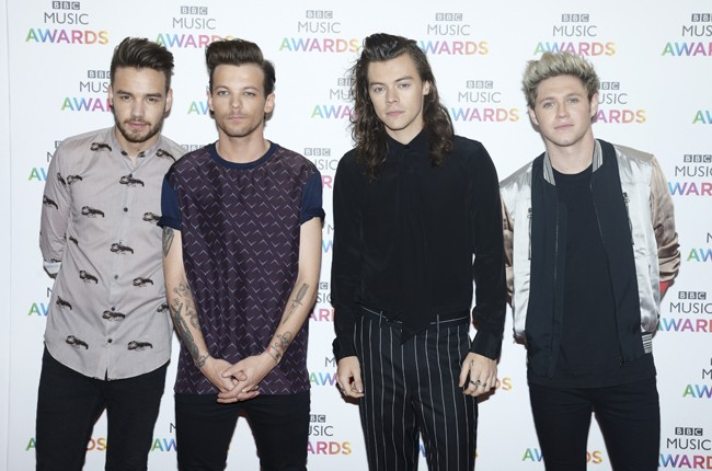 One Direction attend the BBC Music Awards