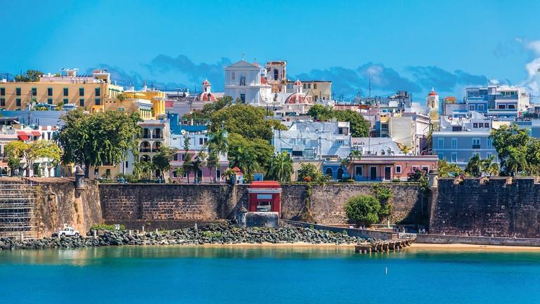 <p>The coast of Old San Juan in Puerto Rico.</p>