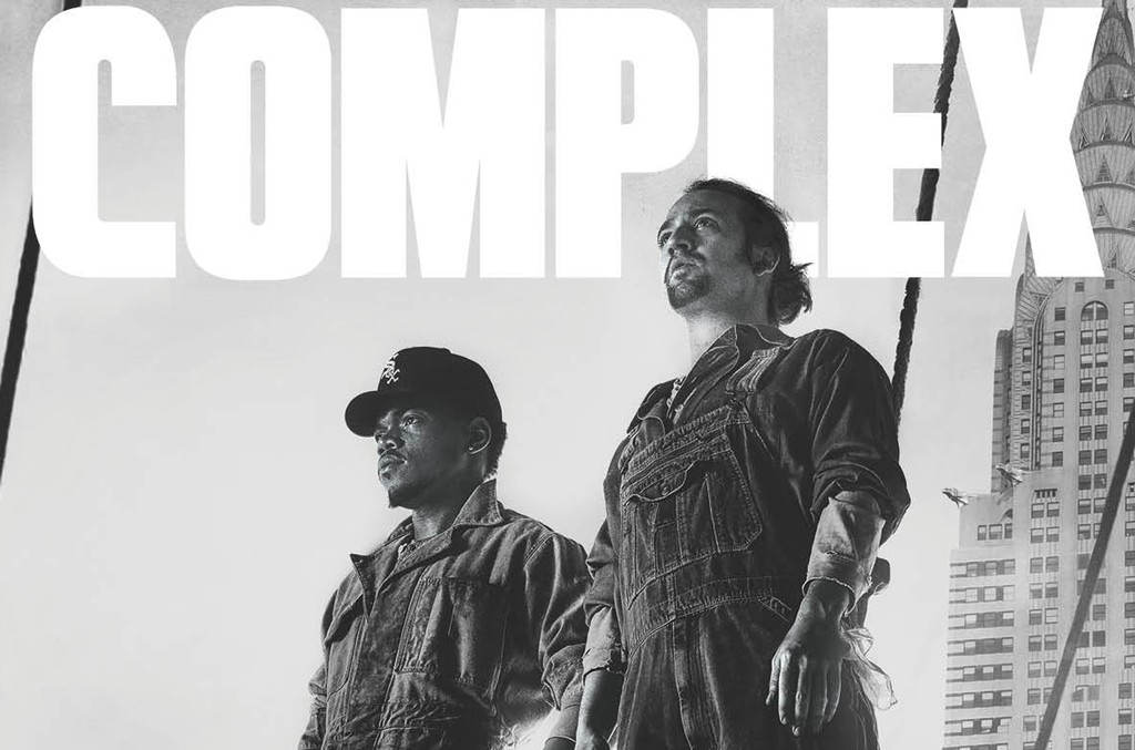 Chance the Rapper and Lin Manuel Miranda on the cover of the June/July 2016 issue of Complex.