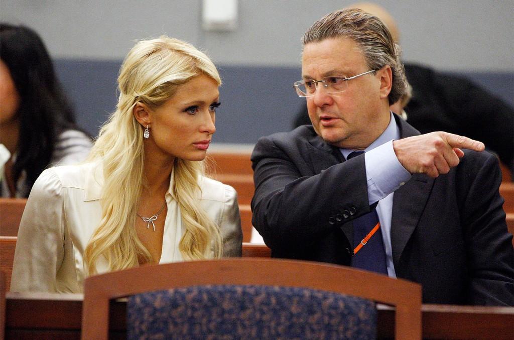 Paris Hilton and David Chesnoff