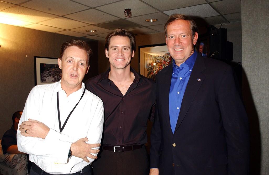 Paul McCartney, Jim Carrey & George Pataki