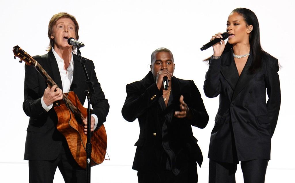 Paul McCartney, Kanye West and Rihanna