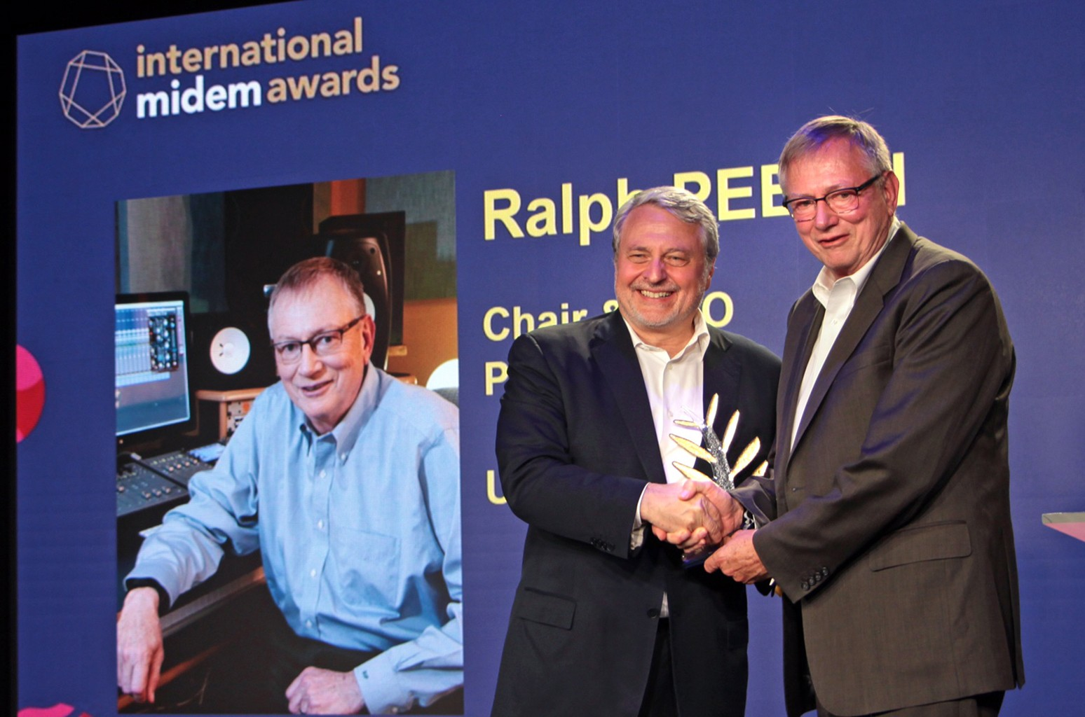 Paul Zilk, CEO of Reed MIDEM and Ralph Peer II, Chair and Chief Executive Officer, peermusic.