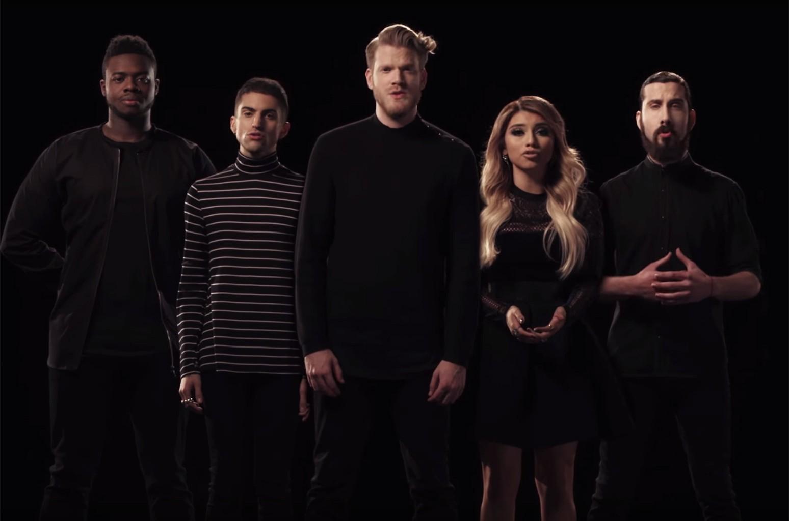 """Pentatonix in the video for """"God Rest Ye Merry Gentlemen."""""""