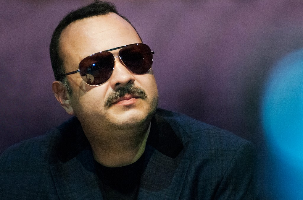 Jose 'Pepe' Aguilar attends a press conference to present his new tour Pepe Aguilar 2015 at Telmex Auditorium on May 14, 2015 in Guadalajara, Mexico.