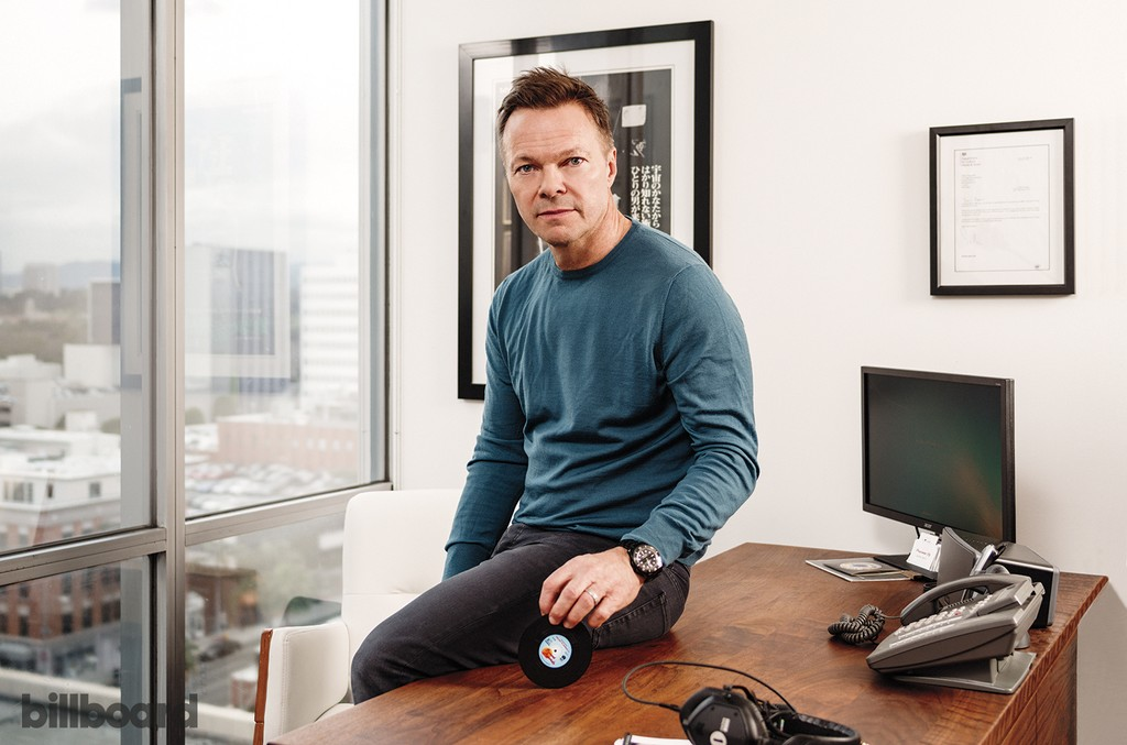 """""""Dance music has always had a chip on its shoulder,"""" says Tong, photographed Feb.27 at William Morris Endeavor in Beverly Hills. """"The whole mission of my career has been to legitimize all that we do."""""""