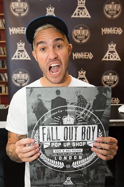 Pete Wentz Manhead Merchandise x Fall Out Boy Pop Up Shop Rock N Roll Rescue