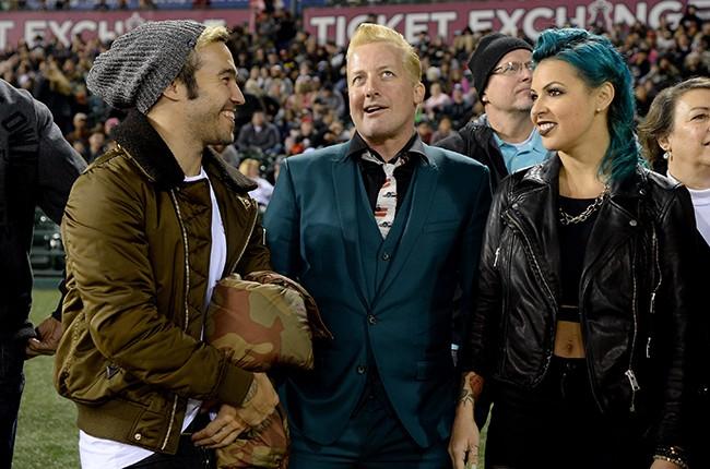 Pete Wentz, Tre Cool and Sara Rose Lipe