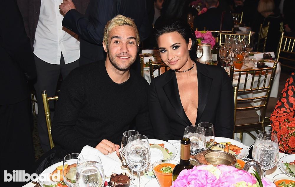 Pete Wentz and Demi Lovato